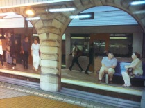 CityRail: our platforms have adequate seating.