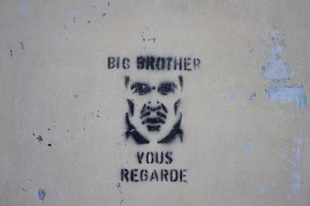 Big Brother graffiti in La Ferté-sous-Jouarre, France